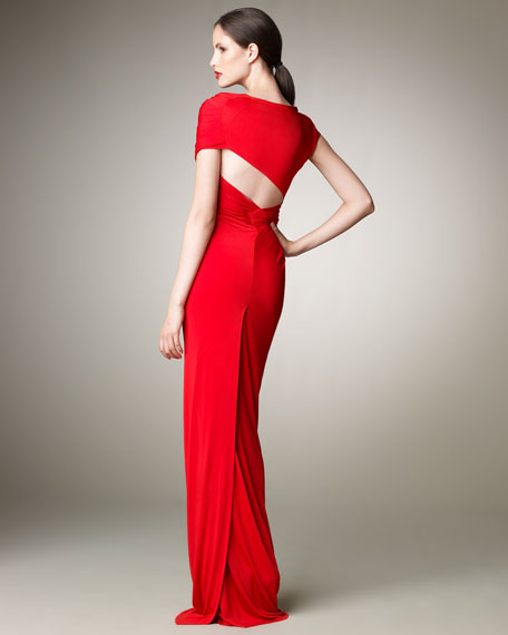 Wrapped Jersey Gown