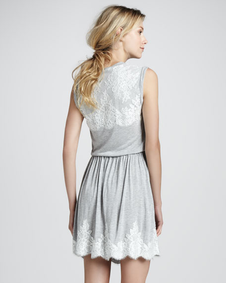 Lace Applique Jersey Dress