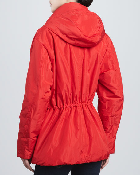 Hooded Drawstring Parka