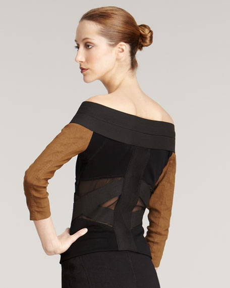Off-the-Shoulder Fencing Jacket
