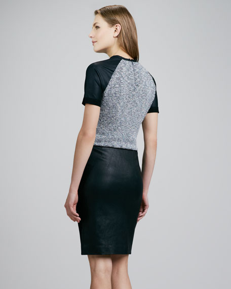 Brokelle Leather Pencil Skirt