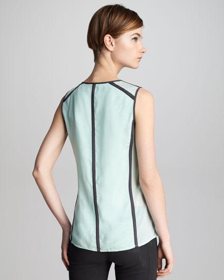 Isabella Contrast Silk Top