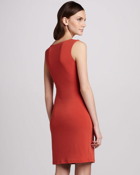 Stretch-Jersey Sleeveless Dress