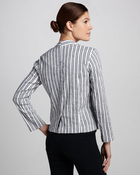 Kaycee Striped Twill Blazer