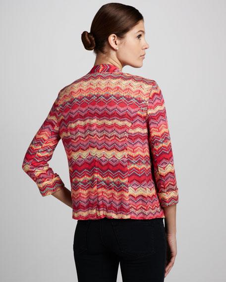 Ziagzag-Pattern Blazer