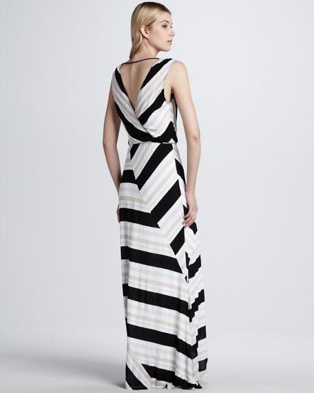 Zadie Wrap-Stripe Dress