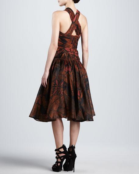 Printed Crisscross Dress