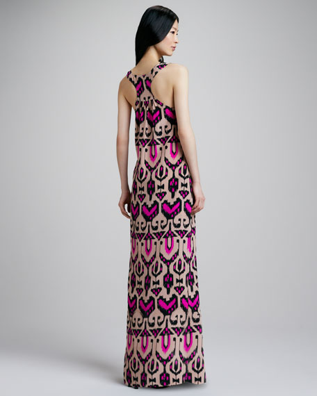 Tribal-Print Maxi Dress
