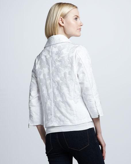 Flower-Detailed Flare Jacket, Petite