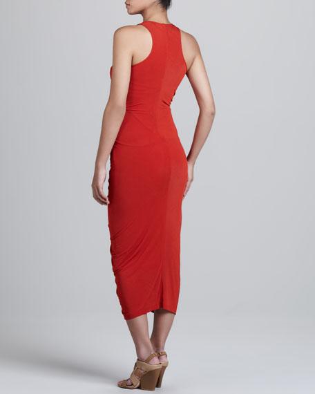 V-Neck Ruched Dress