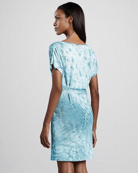 Abstract Giraffe-Print Dress