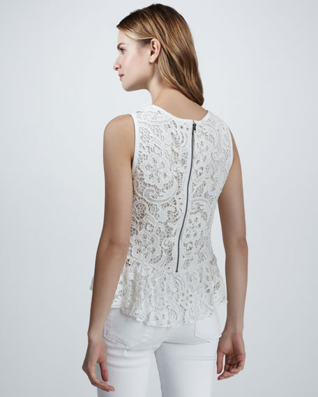 Anja Lace Peplum Top