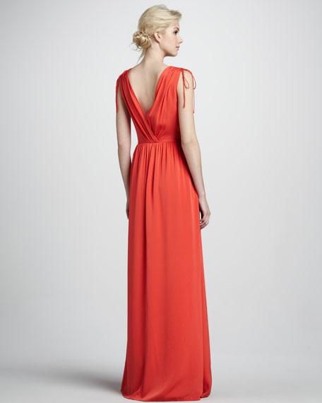 Thara Double-V Maxi Dress