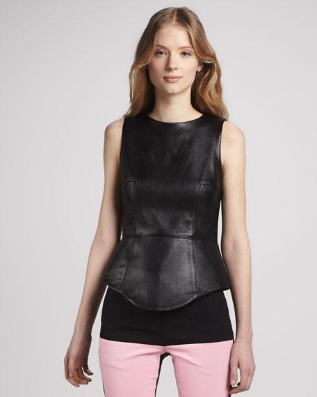 Sleeveless Leather Top