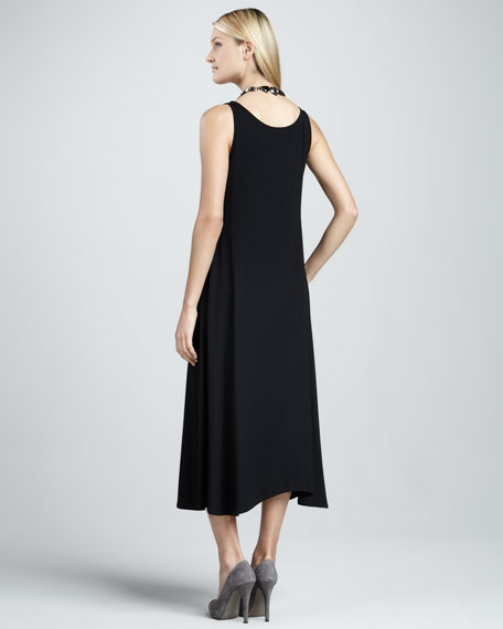 Long Sleeveless Jersey Dress