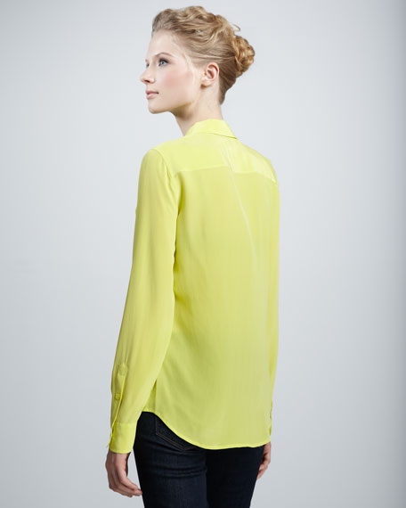 Brett Super Vintage Wash Blouse, Canary