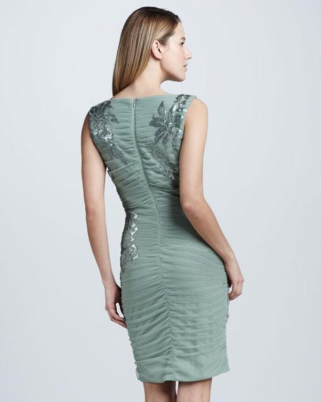 Sequined Mesh Sheath Dress