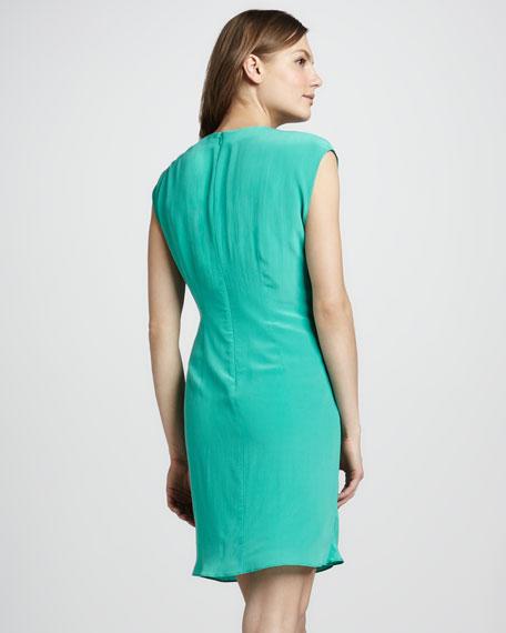 Hannah Draped Dress, Mint