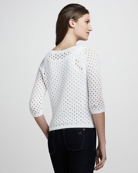 Pointelle Raglan Sweater