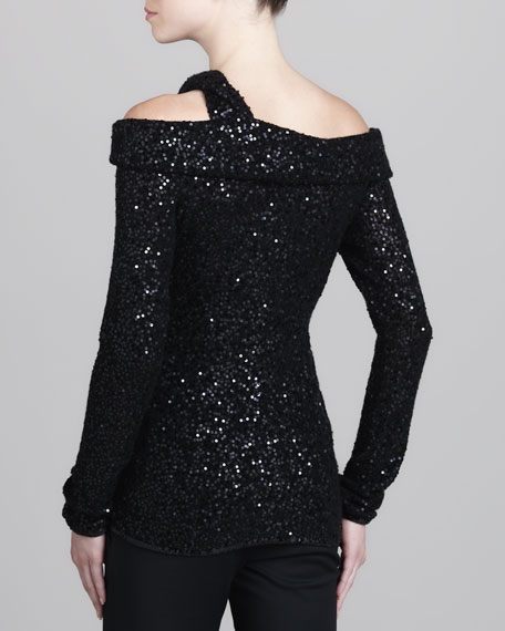 Sequined Off-the-Shoulder Top