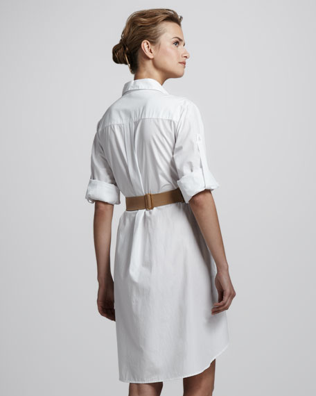 Belted Shirtdress with Overlay