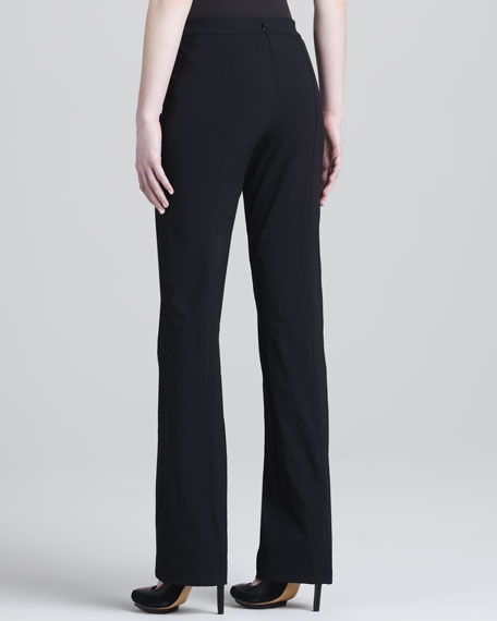 Seamed Wide-Leg Pants