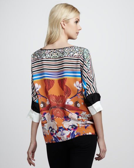 Orchid-Print Top