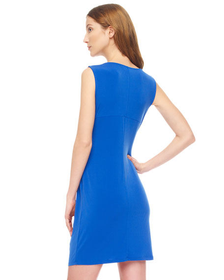 Twist-Knot Jersey Dress