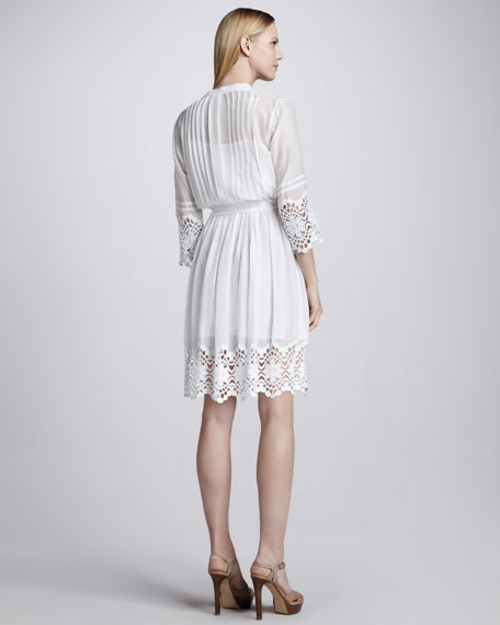 Gauze Lace-Trim Dress