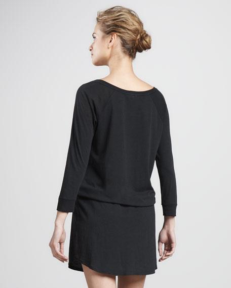 Analee Slub Blouson Dress
