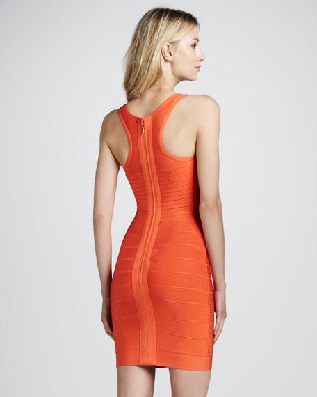 V-Neck Racerback Bandage Dress, Orange