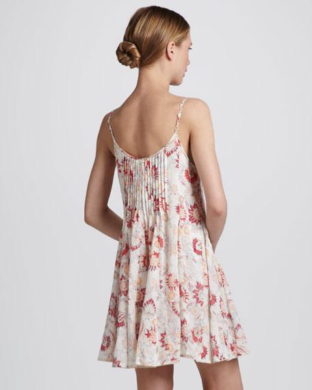 Pintucked Gauze Dress