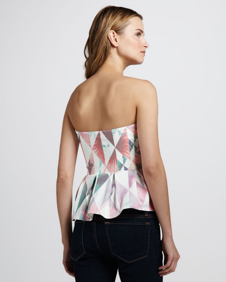Seek & Find Strapless Peplum Top