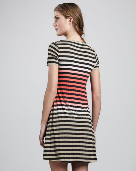 Ibiza Striped A-Line Dress