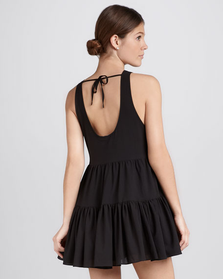 Angel Tie-Back Tiered Dress