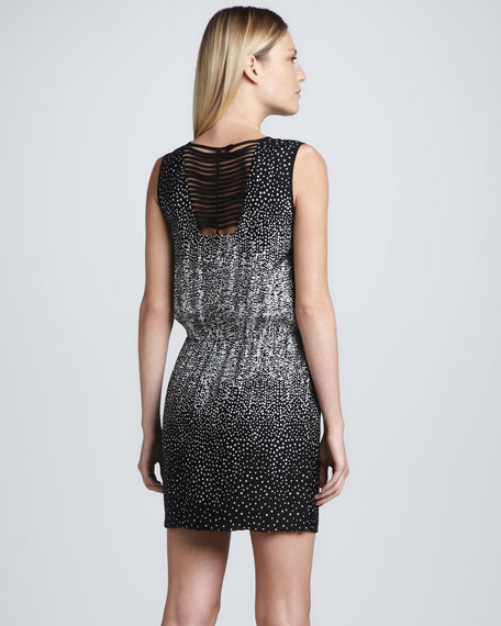 Ombre Dot-Print Dress