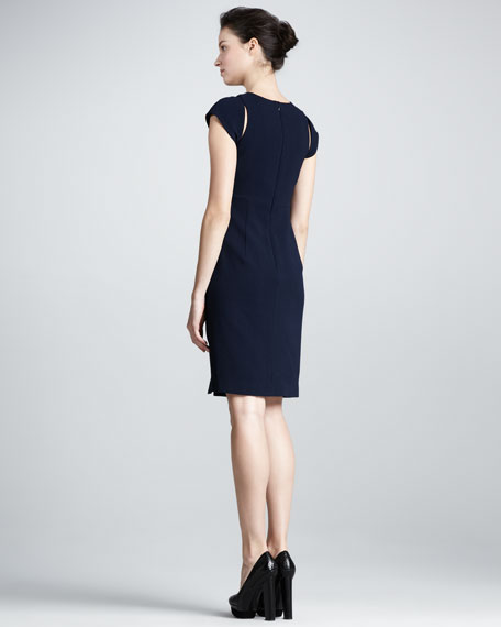 Eddie Cap-Sleeve Cutout Sheath Dress