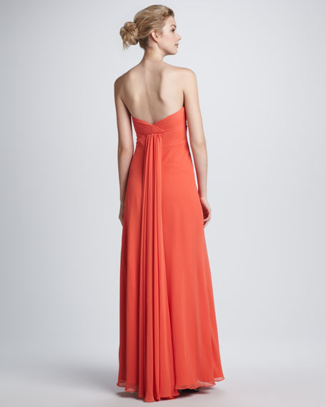 Strapless Beaded Empire Gown