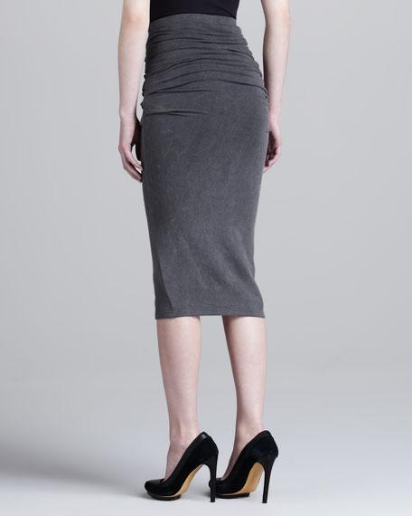 Integral Jersey Crushed Skirt