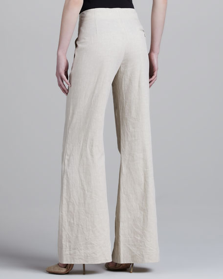 Pleated Flared Pants