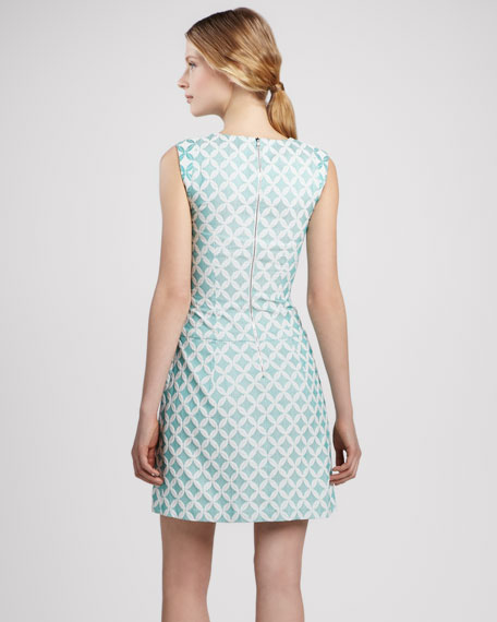 Diamond-Print Sleeveless Dress