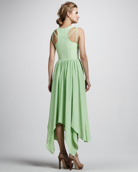 Music in the Night High-Low Maxi Dress