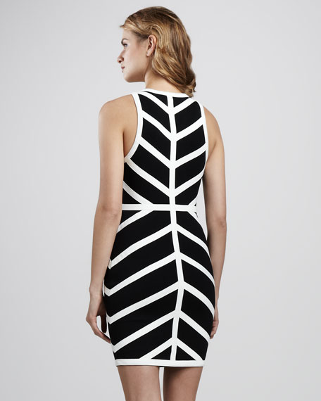 Wizard Geometric Contrast Dress