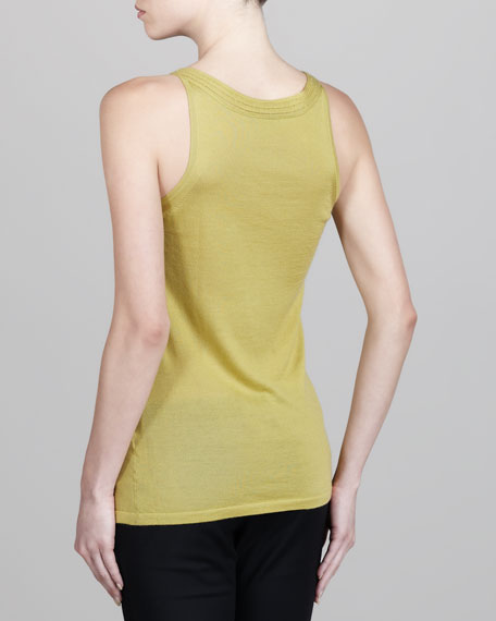 Sleeveless Cashmere-Silk Top