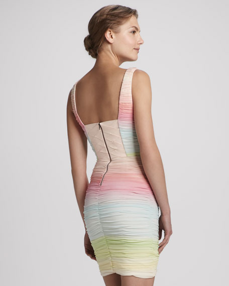 Molly Ruched Ombre Dress