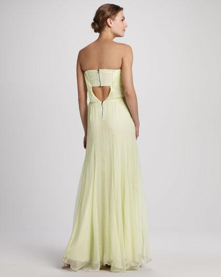 Chase Strapless Silk Maxi Dress