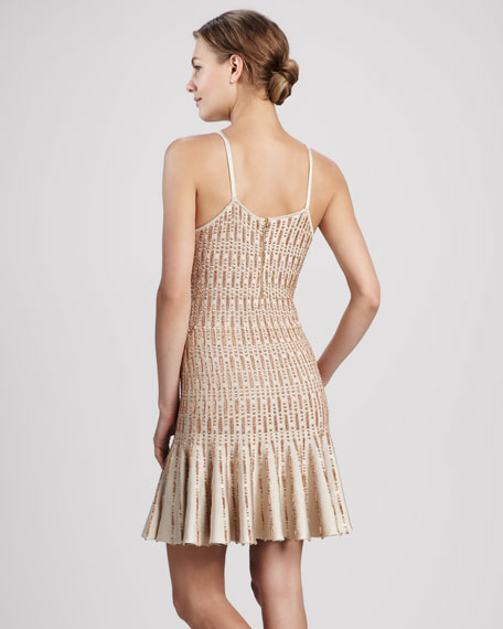 Fern Drop-Waist Knit Slip Dress