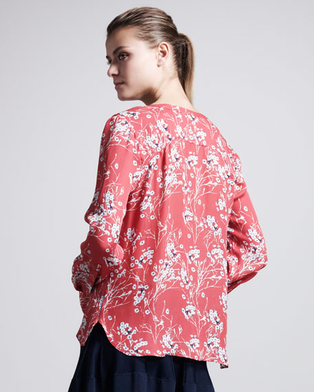 Molly Floral-Print Pocket Blouse