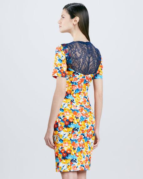 Floral-Print Cocktail Dress