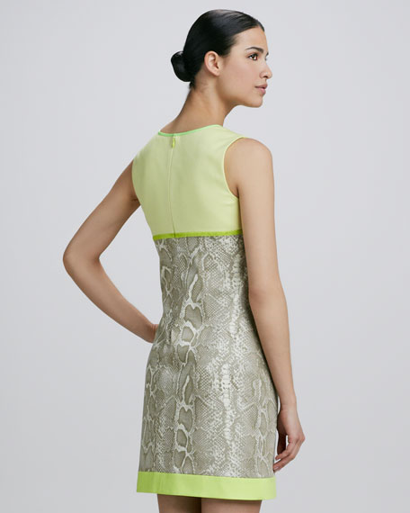 Demitra Snakeskin-Print Sheath Dress
